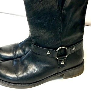 ☠️ Leather motorcycle ankle boots sz 8☠️